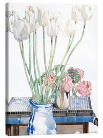 Canvas print  White tulips - Charles Rennie Mackintosh
