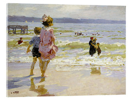 Acrylic glass  At the Seashore - Edward Henry Potthast