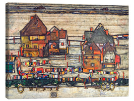 Canvas print  Houses with colorful laundry - Egon Schiele