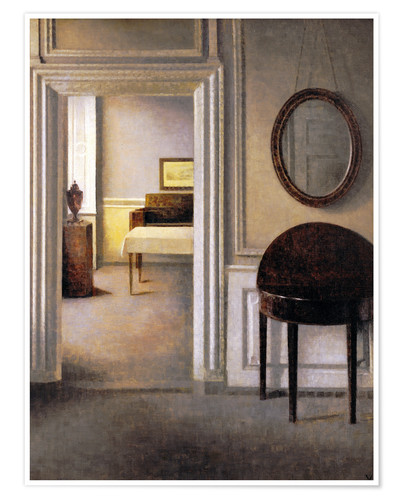 Premium poster Interior with a mirror