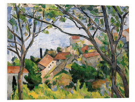 Foam board print  View of L'Estaque Through the Trees - Paul Cézanne