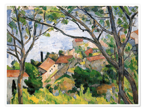 Premium poster View of L'Estaque Through the Trees