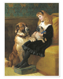 Poster Her only Playmates, 1870