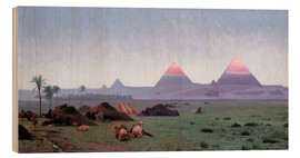 Wood print  The First Kiss of the Sun - Jean Leon Gerome