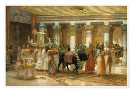 Premium poster The Procession of the Holy Bull in Apis, 1879