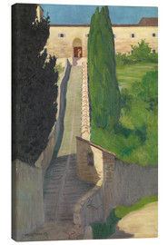 Canvas  The Steps of the Convent of San Marco, Perugia, 1913 - Felix Edouard Vallotton