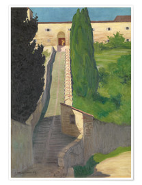 Premium poster  The Steps of the Convent of San Marco, Perugia, 1913 - Felix Edouard Vallotton