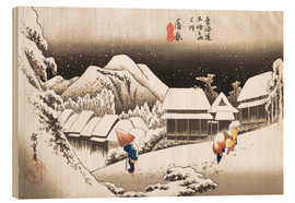 Wood  Night Snow, Kambara - Utagawa Hiroshige