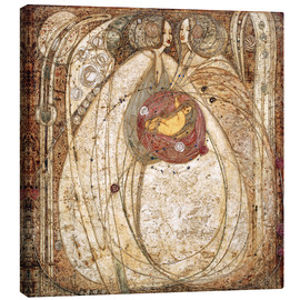 Canvas print  The heart of the rose - Margaret MacDonald Mackintosh