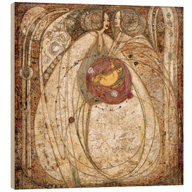 Wood print  The heart of the rose - Margaret MacDonald Mackintosh
