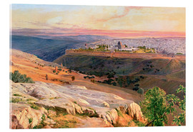 Acrylic print  Jerusalem from the Mount of Olives - Edward Lear