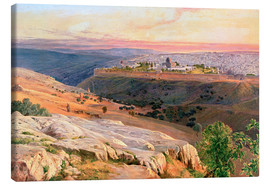 Canvas print  Jerusalem from the Mount of Olives - Edward Lear