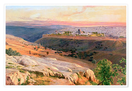 Edward Lear - Jerusalem from the Mount of Olives