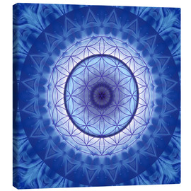 Canvas print  Flower of life blue - Christine Bässler