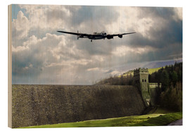 Wood print  Dambusters at Derwent - airpowerart