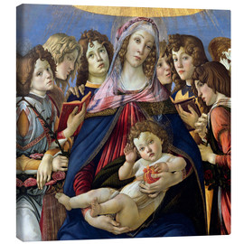Canvas print  Madonna and Child and Six Angels - Sandro Botticelli