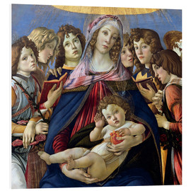 Foam board print  Madonna and Child and Six Angels - Sandro Botticelli