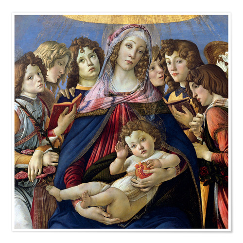 Premium poster Madonna and Child and Six Angels