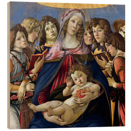 Wood  Madonna and Child and Six Angels - Sandro Botticelli