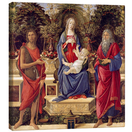 Canvas print  madonna with saints - Sandro Botticelli