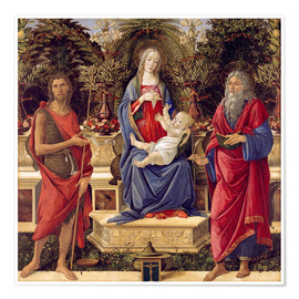 Premium poster  madonna with saints - Sandro Botticelli