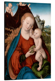 Alu-Dibond  The Madonna and Child - Lucas Cranach d.Ä.