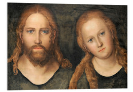 Foam board print  Christ and Mary Magdalene - Lucas Cranach d.Ä.