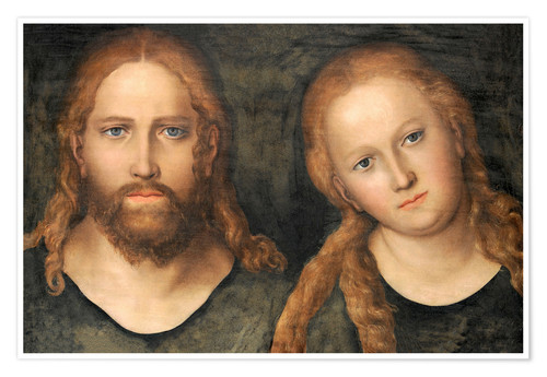 Premium poster Christ and Mary Magdalene