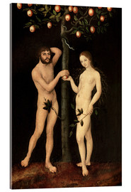 Acrylic glass  Adam and Eve - Lucas Cranach d.Ä.