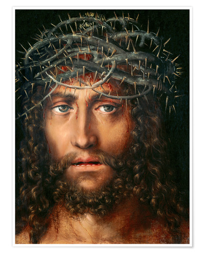 Premium poster Christ with Crown of Thorns