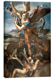 Canvas print  St.Michael kills the demon - Raffael