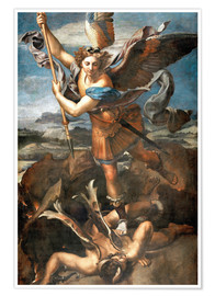 Premium poster St.Michael kills the demon