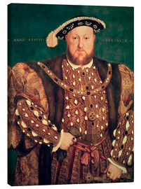 Canvas  Henry VIII. Of England - Hans Holbein d.J.