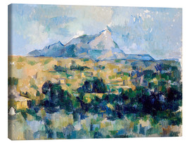 Canvas  Montagne Sainte Victoire - Paul Cézanne