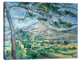 Canvas print  Ste-Victoire mountain pine - Paul Cézanne
