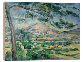 Wood print  Ste-Victoire mountain pine - Paul Cézanne