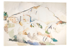 Acrylic print  The Château Noir and Sainte-Victoire mountains - Paul Cézanne