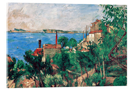 Acrylic print  The Sea at L'Estaque - Paul Cézanne
