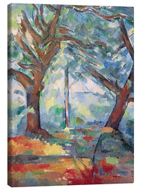 Paul Cézanne - Large trees