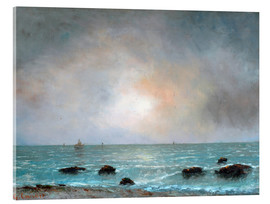 Acrylic print  Sonnenaufgang am Meer - Gustave Courbet