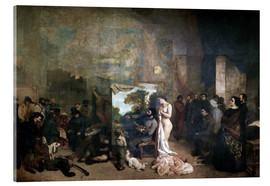 Acrylic print  L'Atelier - Gustave Courbet