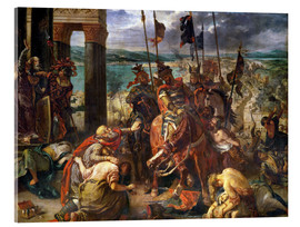 Acrylic glass  The conquest of Constantinople by the crusaders - Eugene Delacroix