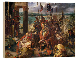 Wood print  The conquest of Constantinople by the crusaders - Eugene Delacroix