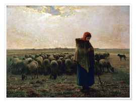 Premium poster The shepherdess
