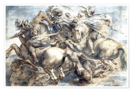Premium poster Battle of Anghiari, sketch