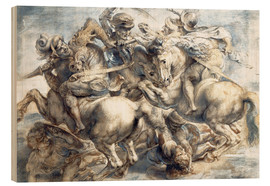 Wood print  Battle of Anghiari, sketch - Peter Paul Rubens