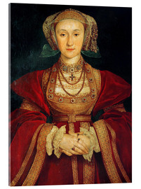 Acrylic print  Anne of Cleves - Hans Holbein d.J.