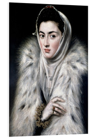 Foam board print  The Lady with the fur - Dominikos Theotokopoulos (El Greco)