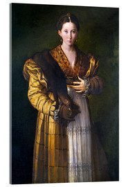 Acrylic glass  Young Lady - Parmigianino