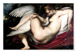 Premium poster  Leda and the Swan - Peter Paul Rubens